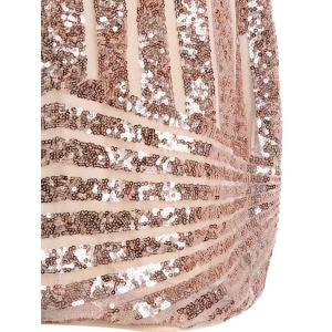Backless Sequin Sparkly Short Bodycon Dress -