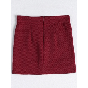 Stylish Solid Color Asymmetric Mini Skirt For Women -