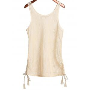 Scoop Collar Cut Out Women's Cover Up - APRICOT ONE SIZE(FIT SIZE XS TO M)