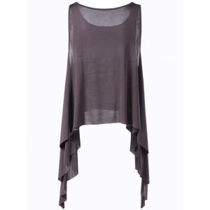 Casual Slimming Scoop Neck Flounce Top For Women -