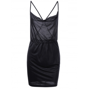 Low Back Criss Cross Slip Club Dress