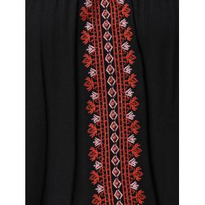 Embroidered Multiway Flowy Tank Top - BLACK 2XL