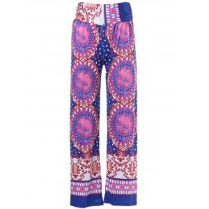Ethnic Style Mid-Waisted Geometric Pattern Loose-Fitting Exumas Pants For Women