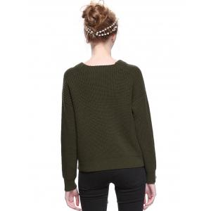 Trendy Round Neck Solid Color Pullover Sweater -