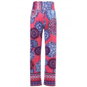 Stylish Mid-Waisted Printed Wide Leg Women's Exumas Pants - COLORMIX M