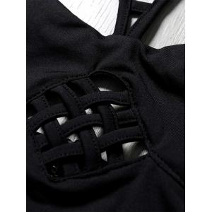 Strappy Hollow Out Zippered Crop Top -
