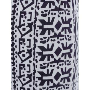 Patterned Exumas Pants - WHITE AND BLACK S