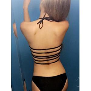 Strappy Black Women's Bikini Set -