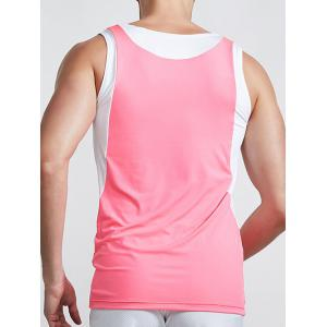Col rond Linellae Quick Design-Dry Solid Color Tank Top For Men -