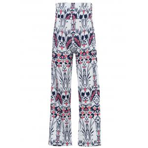 Mid-Waisted Tropical Print Exumas Palazzo Pants
