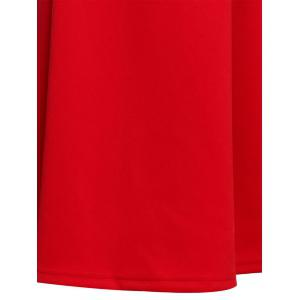 Retro Style V-Neck Candy Color Sleeveless Dress For Women - RED S