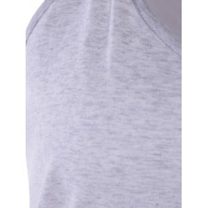 Hooded Casual Tank Top - LIGHT GRAY L