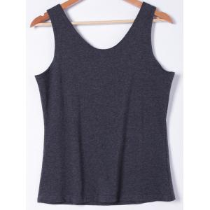 Fashionable Slimming U-Neck Multicolor Print Tank Top For Women -