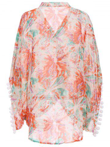 Buy Printed Summer Kimono Beach Cover Up - M COLORMIX Mobile