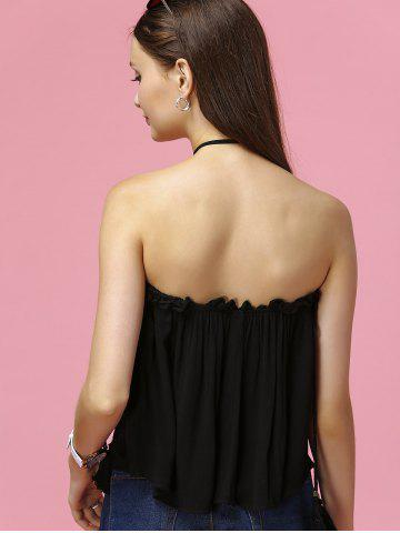 Affordable Embroidered Multiway Flowy Tank Top - 2XL BLACK Mobile