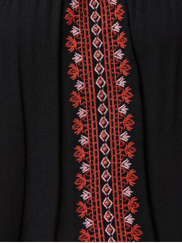 Fancy Embroidered Multiway Flowy Tank Top - 2XL BLACK Mobile