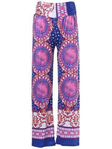 Outfit Ethnic Style Mid-Waisted Geometric Pattern Loose-Fitting Exumas Pants For Women