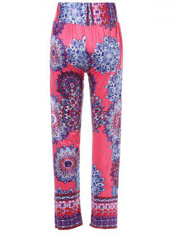 Stylish Mid-Waisted Printed Wide Leg Women's Exumas Pants - COLORMIX S