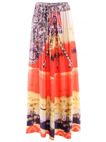 Trendy Mid-Waisted African Print Maxi Skirt