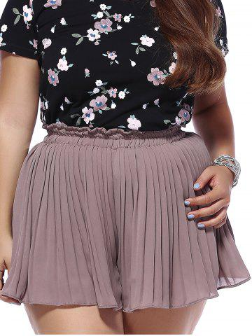Trendy Trendy Plus Size Solid Color Pleated Women's Shorts