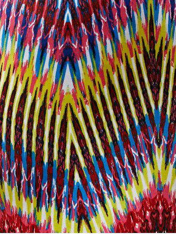 Online Colorful Boho Zigzag Fringe Racerback Flapper Dress - L COLORMIX Mobile