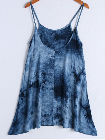 Buy Casual Spaghetti Strap Tie Dye Knee Length Dress For Women