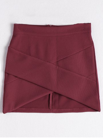 Latest Stylish Solid Color Asymmetric Mini Skirt For Women