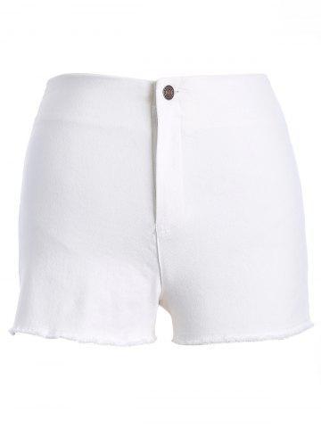 Latest Stylish Solid Color Slit High Waist Mini Shorts For Women