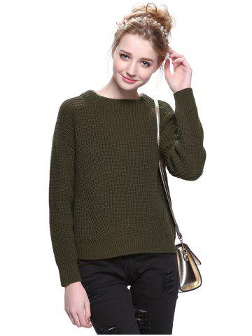 Trendy Trendy Round Neck Solid Color Pullover Sweater