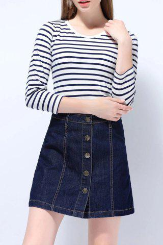 New Button Through Denim Skirt