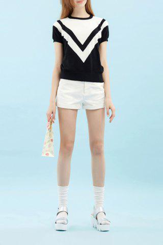 Store Hit Color Printed Knitted Tee