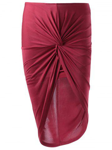 Hot Fashionable Fitted Symmetry High Rise Skirt For Women