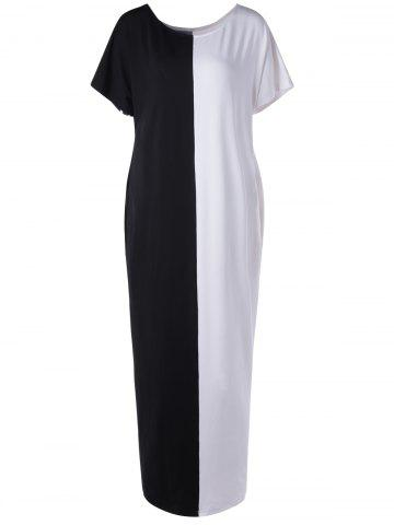 Buy Black And White Color Block Dress For Woman