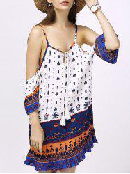 Chic Women's Spaghetti Strap Ethnic Print Dress