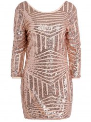 Backless Sequin Sparkly Short Bodycon Dress