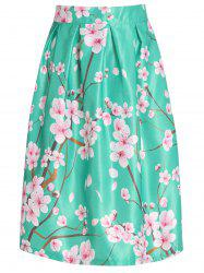 Chic Floral Print High Waist A-Line Skirt For Women
