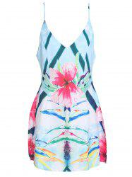 Spaghetti Strap Mini Floral Summer Dress -