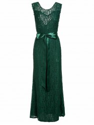 Backless Lace Long Formal Evening Dress