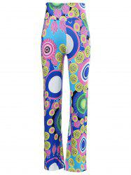 Chic Mid-Waisted Colorful Print Loose-Fitting Exumas Pants For Women