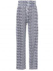 Patterned Exumas Pants - WHITE AND BLACK