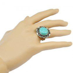 Stylish Faux Turquoise Round Ring For Women -