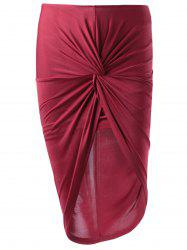 Fashionable Fitted Symmetry High Rise Skirt For Women -