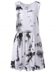 Women's Stylish Tie Dye U Neck Sleeveless Dress
