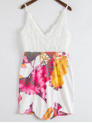 Stylish Plunging Neckline Floral Print Open Back Dress For Women