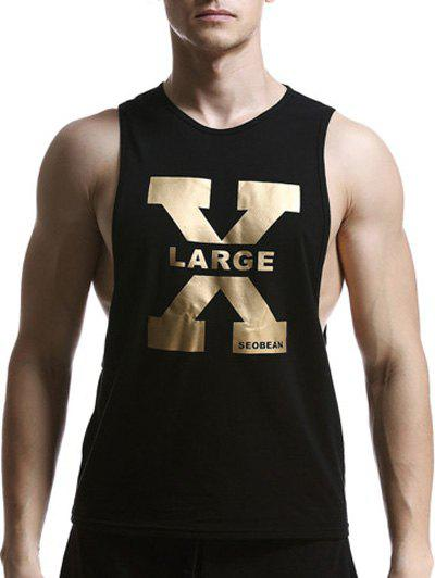 Affordable Round Neck X Letter Print Graphic Tank Top