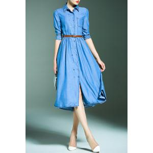 Double Breasted Denim Dress -