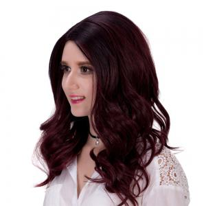Charming Fluffy Long Wavy Capless Mixed Color Synthetic Adiors Wig For Women