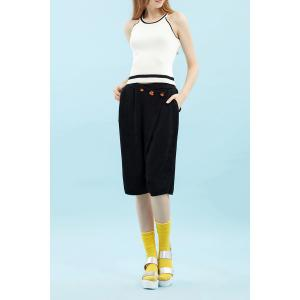 Knitted Fifth Wide-Leg Pants -