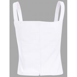 Stylish Solid Color Sweetheart Neckline Spaghetti Strap Crop Top For Women -