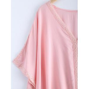 Fashionable Lace V-Neck Batwing Sleeves Dress For Women -